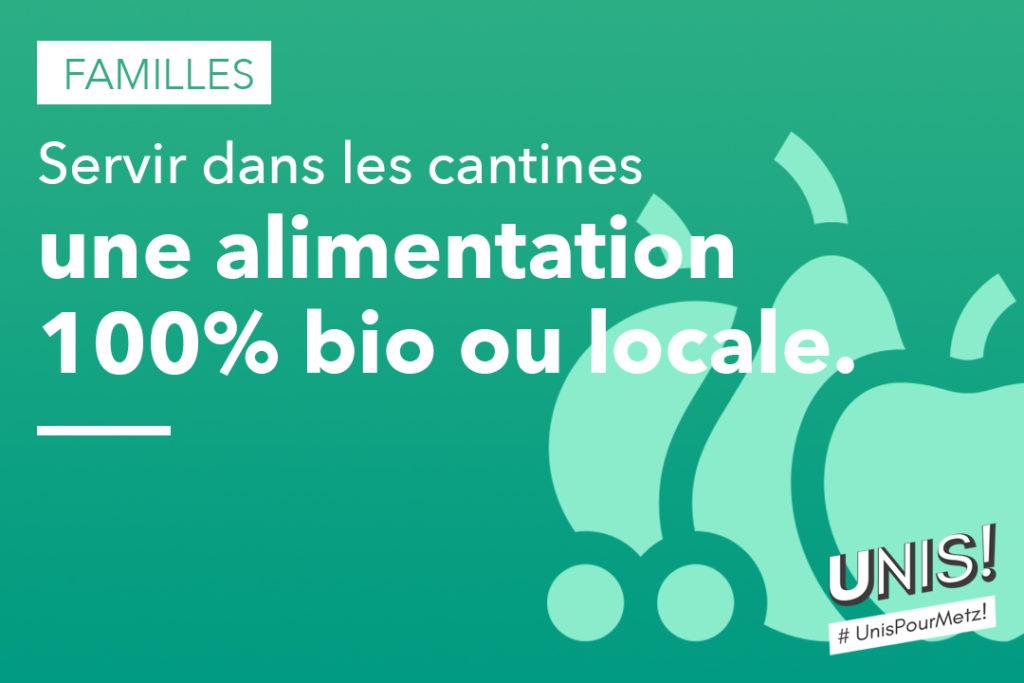 Servir dans les cantines une alimentation 100% bio ou locale