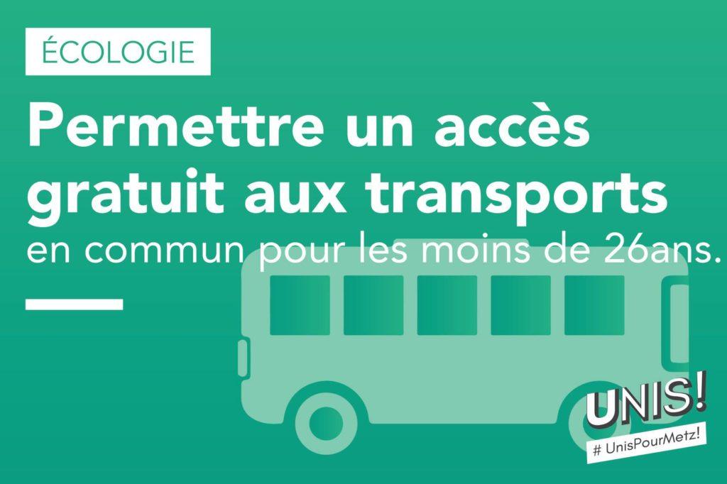 Permettre un accès gratuit aux transports en commun pour les moins de 26 ans